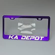 Personalize Custom Laser Engraved Candy Purple 100% Stainless Steel Mirror Lettering License Plate Frame Holder Tag Ka Legend