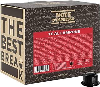 Note d'Espresso - Thé à la framboise - Dosettes Compatibles avec les Machines CAFFITALY* - 100 caps
