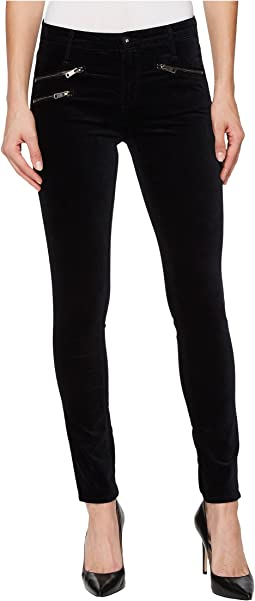 AG Adriano Goldschmied - Velvet Legging Ankle Moto in Super Black