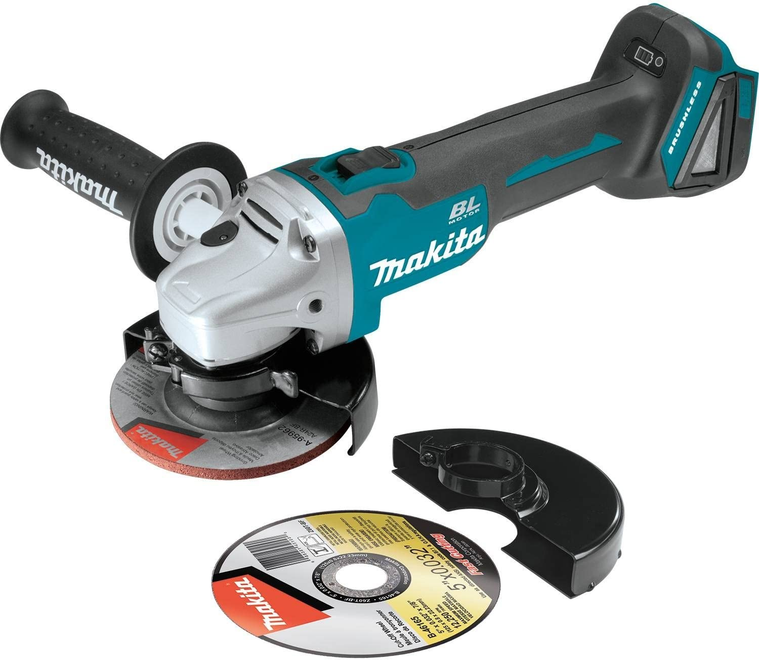 """Makita Xag04Z 18V Lxt Lithium-Ion Brushless Cordless 4-1/2"""" / 5&Quot; Cut-Off/Angle Grinder, Tool Only"""