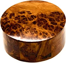 bazaardi Hand Carved Wooden Box Keepsake Box Storage Jewelry Decorative Art Organizer (Large Wood Box,Antique) (Round Box)