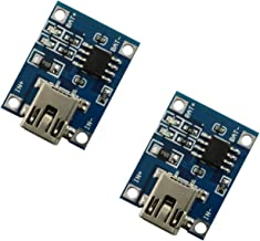 Maxmoral 2pcs TP4056 1A Lipo Battery Charging Board DIY Mini USB Port Lithium Battery Charger Module