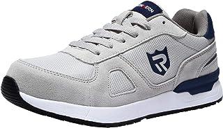 LARNMERN Scarpe Antinfortunistica Uomo,S1/SBP/SB SRC Leggere Sneaker da Lavoro Antiscivolo Traspirante Punta in Acciaio Sc...