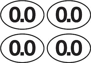 4X 0.0 Sticker No Running Don't Run Funny Marathon Bumper Sticker Oval 5