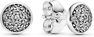 comprar comparacion Pandora 290726CZ–Pendientes de mujer de plata de ley 925,circonita blanca
