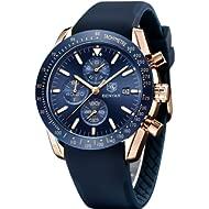 BENYAR Waterproof Quartz Men Watch, Fashionable Chronograph Analog Water-Resistant Business...