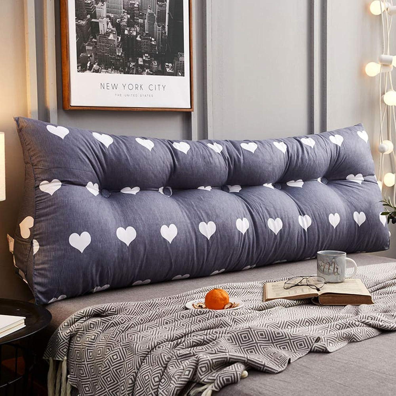 Coussins de chevet triangulaires compensés Oreiller de dossier de lit Coussin de soucravaten du dos de la tête de lit grand Coussin de lecture lombaire avec housse en coton amovible,A-1802050 cm
