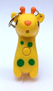 Dolphin.dyl® Cute Cartoon Giraffe Style LED White Light Keychain w/ Sound - Yellow