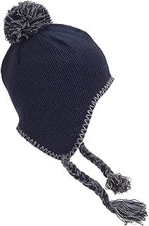 (ビーチフィールド) Beechfield マイクロフリース裏地 耳あて・ポンポン・タッセル付 ニット帽 ニットキャップ バブルハット 冬