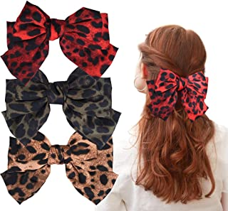 leopard hair bow