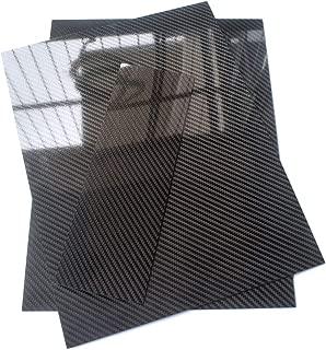 1mmx100mmx300mm Glossy Carbon Fiber Sheet Plate Panel 3K Twill Mirror Like