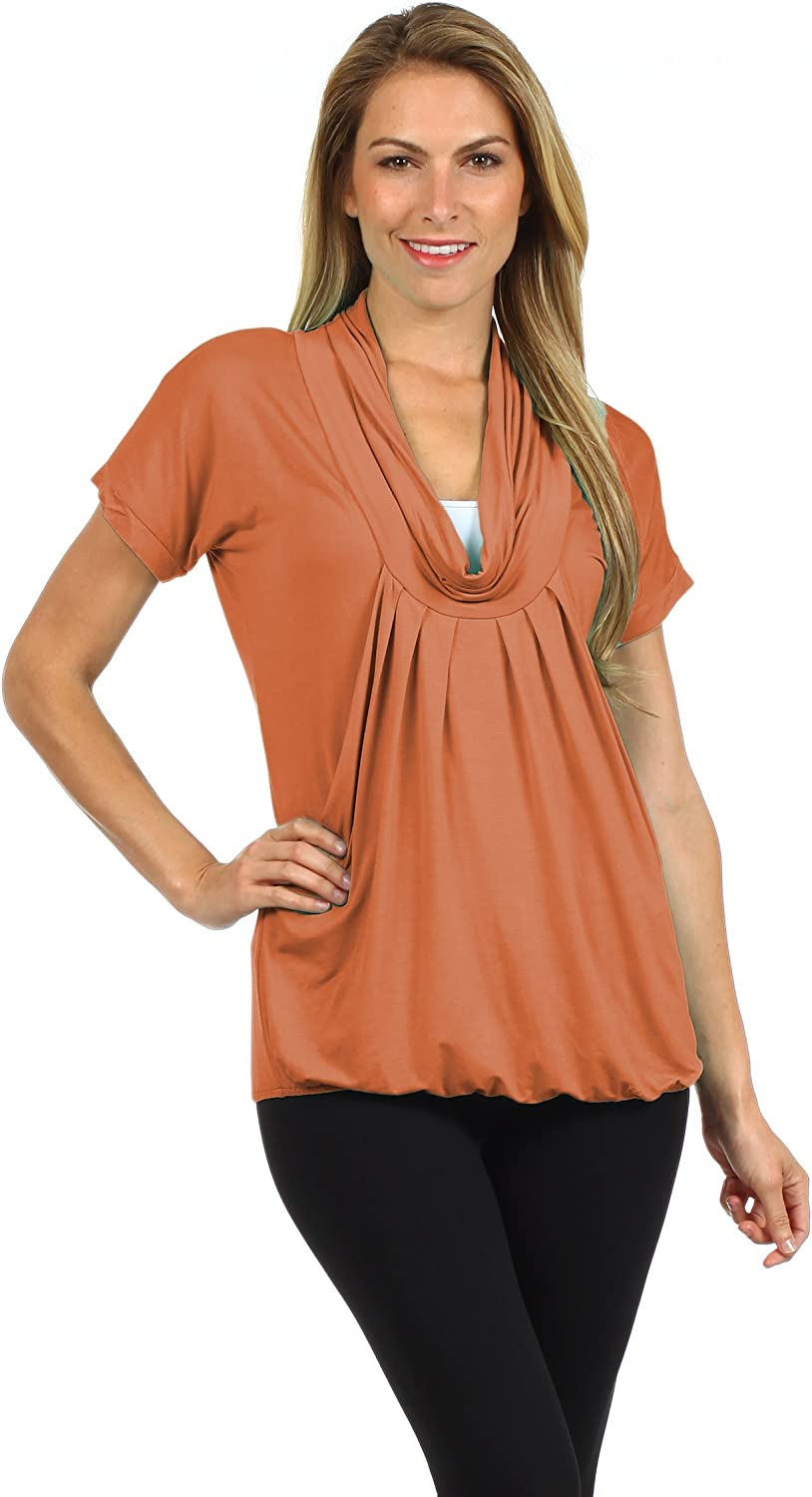 BellyMoms Pleated Draped Cowl Neck Maternity and Nursing Top