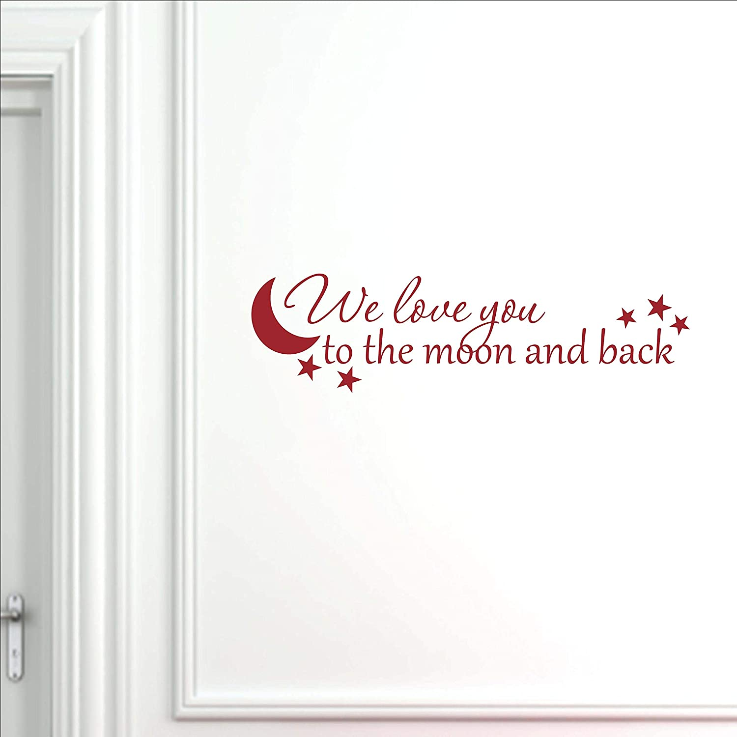 Vinyl Quote Me We Love 4 years warranty You to Back Nursery D outlet and Moon Wall The