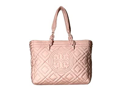 Tory Burch Fleming Quilted Nylon Small Tote (Mineral Pink) Handbags