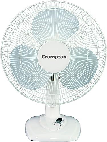 Crompton HiFlo Eva 16-inch Table Fan (White)