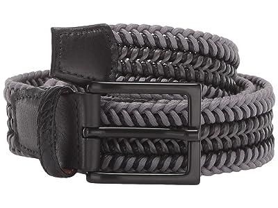 Torino Leather Co. 35 mm Italian Woven Cotton Leather (Grey/Black) Men