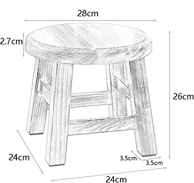lyqqqq Ottomans Stool - Shoe Bench, Household Solid Wood Coffee Table Stool, Modern Minimalist Stool/Pine ,for Children, Home