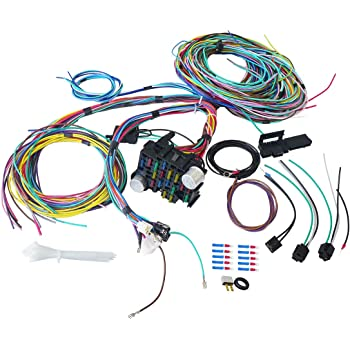 Amazon.com: 21 Circuit Wiring Harness Kit, 17 Fuses Wires for Chevy Mopar  Ford Hotrod Chrysler Universal Standard Extra long Wires, Installation  Instruction Included: AutomotiveAmazon.com