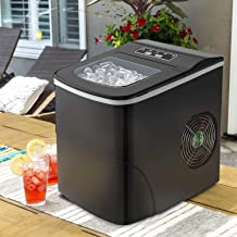 Tavata Countertop Portable Ice Maker Machine, 9 Ice Cubes Ready in 8 Minutes,Makes 26 lbs..