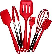 Kitchen Utensil Set - 6 Nylon Cooking Utensils - Cooking Tools - Kitchen Gadgets Utensils Red Set.