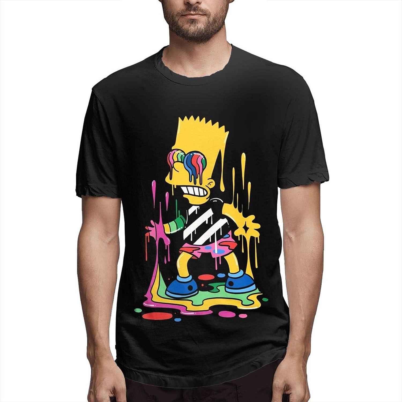 Bart Simp-Son Short Sleeve Shirt Men's Cotton Round Neck Shirtscasual Tees Custom Blouse Tops