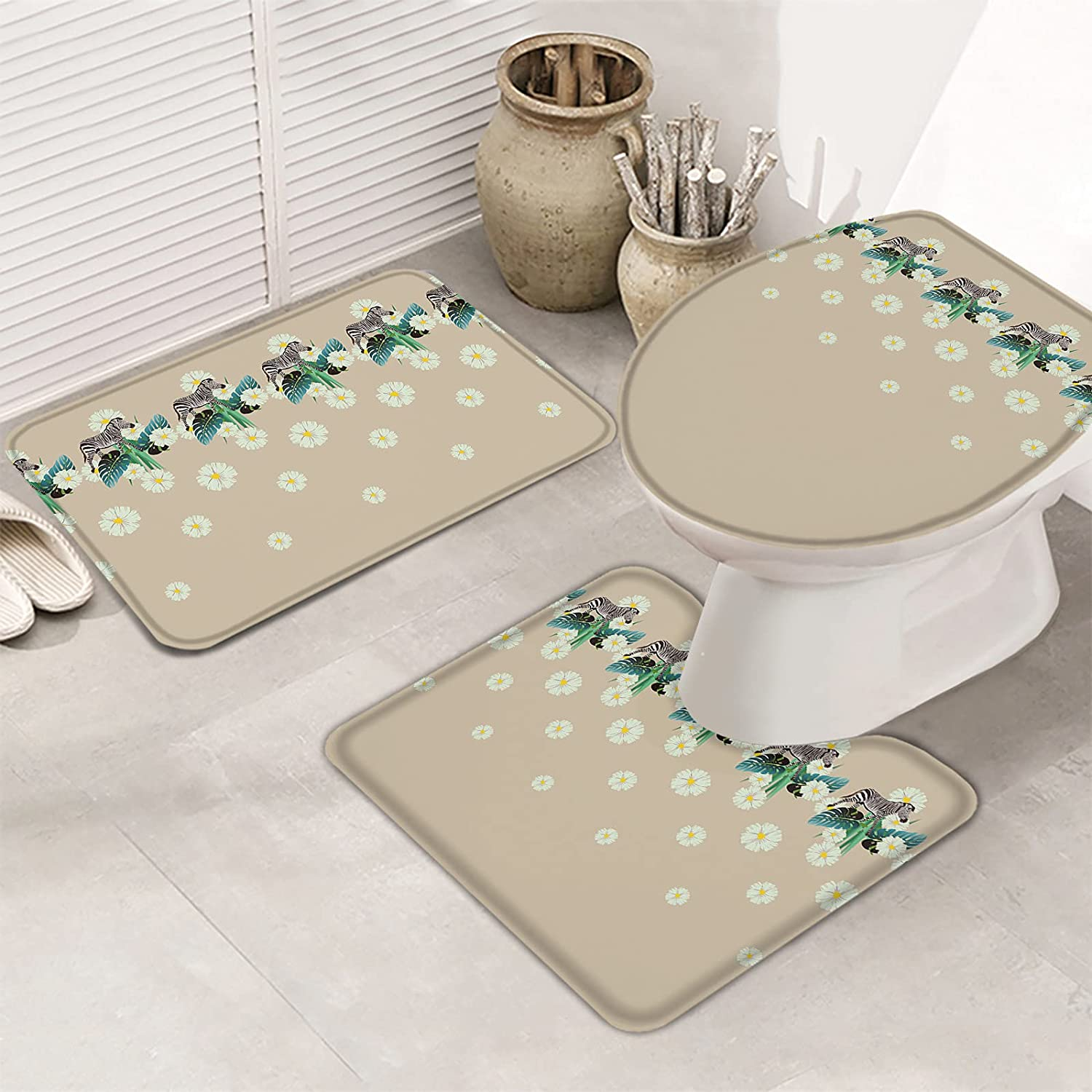 Fangship 3 Piece Bathroom Rugs Set Non Sl It safety is very popular Bath Mats for