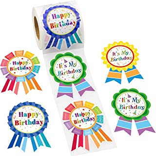 Happy Birthday Badge Stickers It's My Birthday Stickers for Kids Home Classroom Birthday Party Decoration 200 Pcs