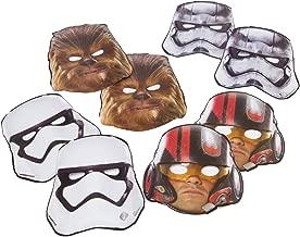 Star Wars Episode VII Masks, 8 Count, Party Supplies Novelty