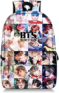Kpop BTS Schoolbag Decompression Shoulder Bag Casual Laptop Backpack (Colorful)