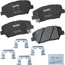 Bendix Premium Copper Free CFC1432 Premium Copper Free Ceramic Brake Pad (with Installation Hardware Front)