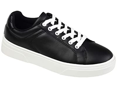 Journee Collection Comfort Foam Leeon Sneaker (Black) Women