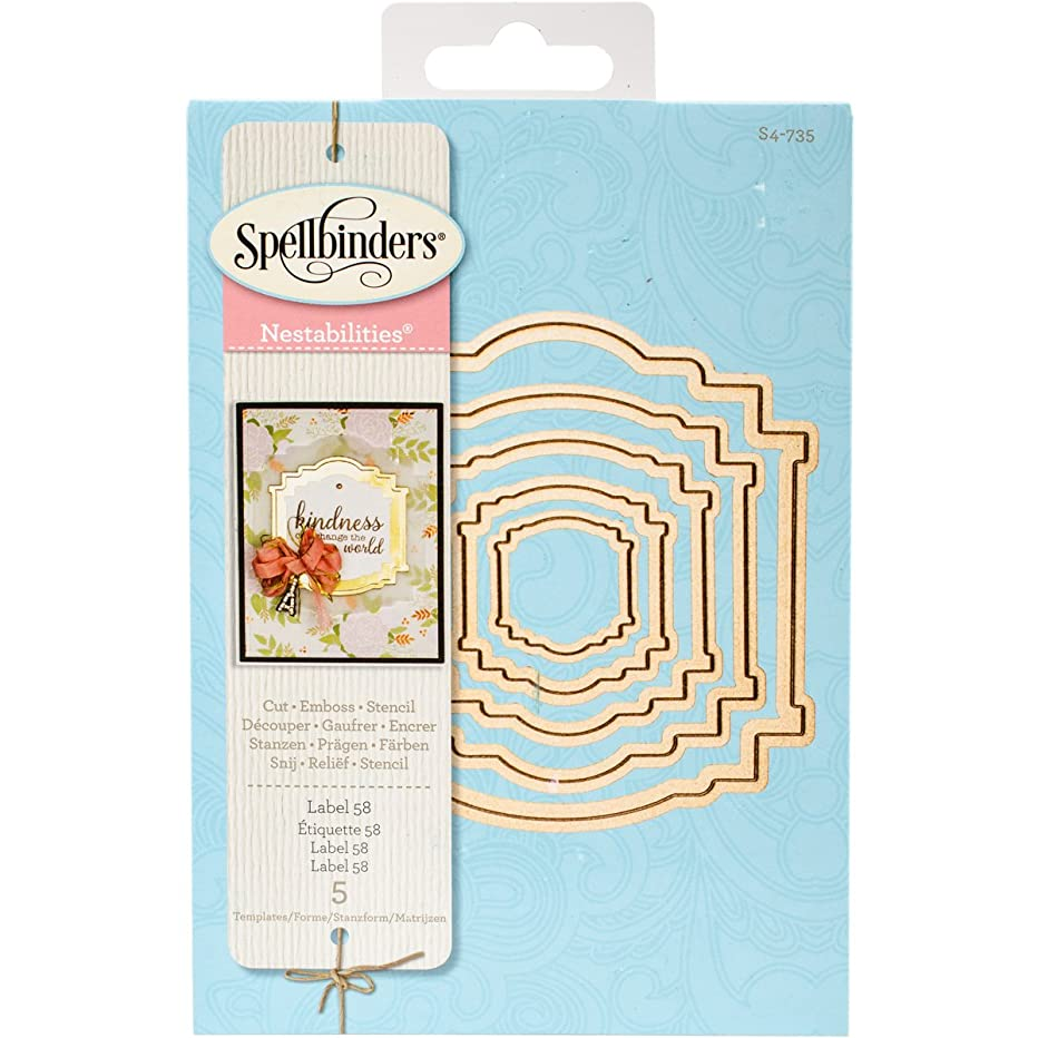 Spellbinders Label 58 Etched/Wafer Thin Dies