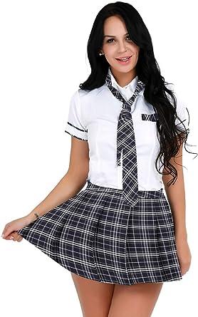 Alvivi Disfraz Colegiala para Mujer Uniforme Escolar Japones ...
