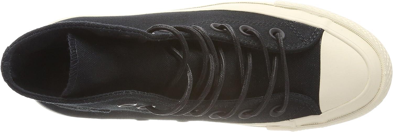 Converse Women's CTAS Lift Ripple Hi Black/Natural Fitness Shoes Black Black Black Natural 001