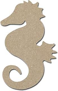 Seahorse Shape Unfinished Wood MDF Cutouts Sea Life Theme (12