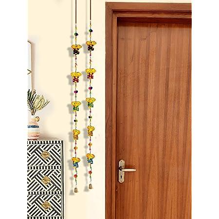 DreamKraft Paper Mache Ganesha Door Hanging (96 cm, Multicolour)