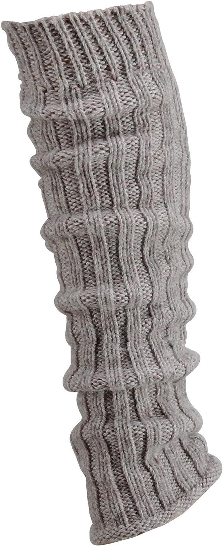 1 Paar Grobstrick-Stulpe mit Alpakawolle Legwarmers f/ür Teenager und DamenCH-354 silber
