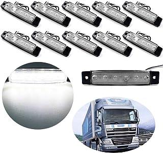 Ambra Akozon Luce di Posizione Laterale per Camion 10 Pezzi 6 LED 12V Indicatore Luminoso di avvertenza del Segnale