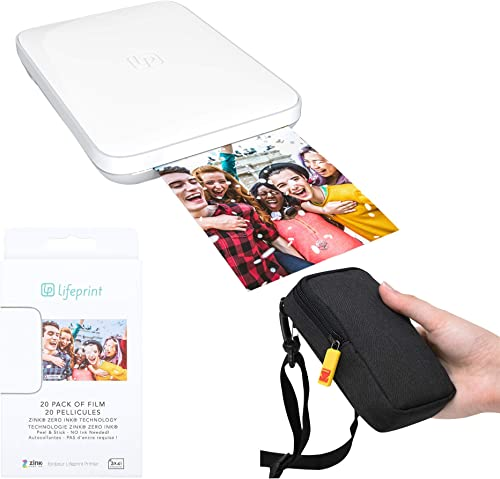 high quality Lifeprint high quality 3x4.5 Portable lowest Photo and Video Printer (White) Travel Kit outlet online sale