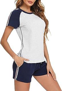 Wayleb Conjunto Chandal Mujer Completo Verano Conjuntos Deportivos para Mujer Conjuntos 2 Pieces Set Camiseta y Pantalones...