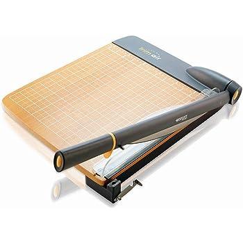 """Westcott 15106 12"""" TrimAir Titanium Wood Guillotine Paper Trimmer"""