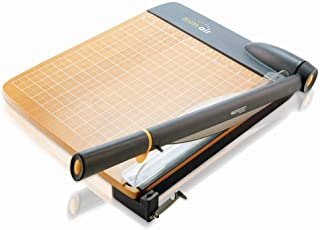 "Westcott 15106 12"" TrimAir Titanium Wood Guillotine Paper Trimmer"