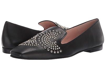 French Sole Elektra (Black Leather) High Heels