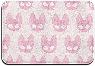 Pink Cat Pattern Personalized Door Mats