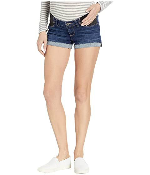 930fcfe58280e Paige Maternity Jimmy Jimmy Shorts w/ Elastic Insests in Enchant at ...