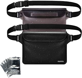 FANYSTD Waterproof Pouch with Waist Strap, Transparent Screen Touchable Dry Bag with Super Lightweight and Bigger Space; Adjustable and Extra-Long Belt; Perfect for Beach/Swimming/Boating/Fishing etc