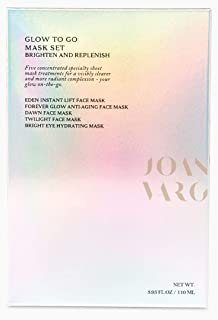 Glow to Go Face Mask Set, Five Concentrated Specialty Sheet Mask Treatments for a Visibly Clearer and More Radiant complexion: Instant Lift, Anti-Aging, Exfoliating, Deep Conditioning and Eye Hydratin