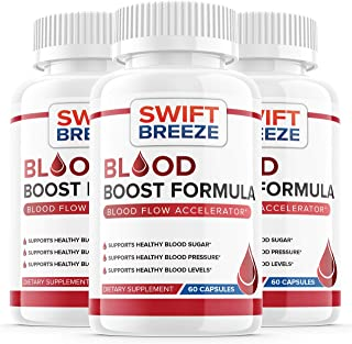 (3 Pack) Blood Boost Formula Pill Supplement, Blood Boost Formula for Diabetes Capsules - Blood Sugar Support for High Blo...