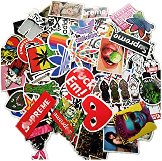 100 Pieces Waterproof Vinyl Stickers for Personalize Laptop, Car, Helmet, Skateboard, Luggage Graffiti Decals