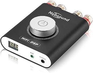 Nobsound NS-20G 200W (100Wx2) Mini Bluetooth Power Amplifier, Multifunctional Hi-Fi DSP Stereo Headphone Audio Amp, LED Di...